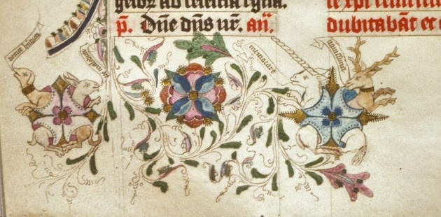 Figure 3. Detail, (Houghton Library, MS Typ 197), fol 212v.