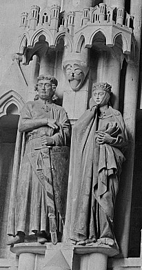 Figure 1. Ekkehard II and Uta von Ballenstedt, Stifterfiguren, West Choir, Naumburg Cathedral, c. 1249. Photo credit: Renate Rössing. Source: Deutsche Fotothek. Creative Commons 3.0 license.