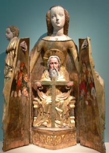 Figure 2. Virgin of Mercy combined with Throne of Mercy, c. 1390s. German National Museum, Nuremberg, Germany. Photo credit: Wolfgang Sauber. Creative Commons 3.0 license.